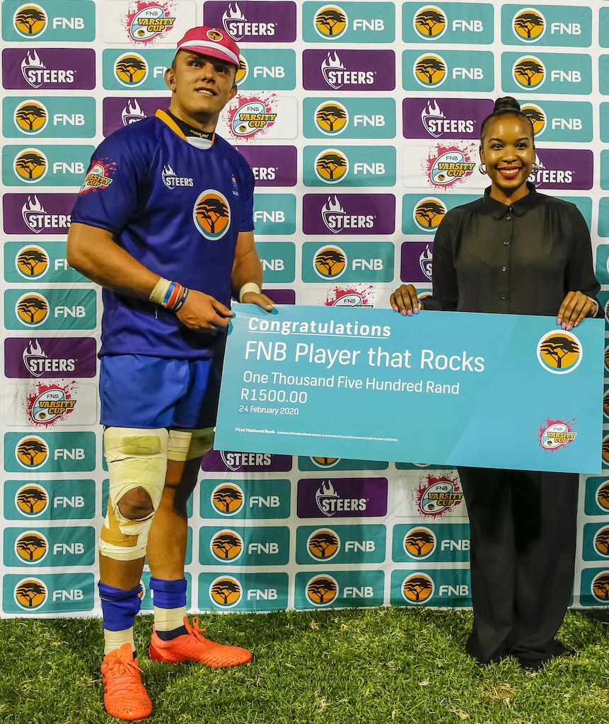 Travis Gordon claimed the FNB Player That Rocks award in Round 4 against FNB NWU